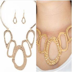 PRIME PRINCESS GOLD NECKLACE/EARRING SET